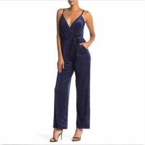 Laundry by Shelli Segal 14 Navy Ribbed Jumpsuit